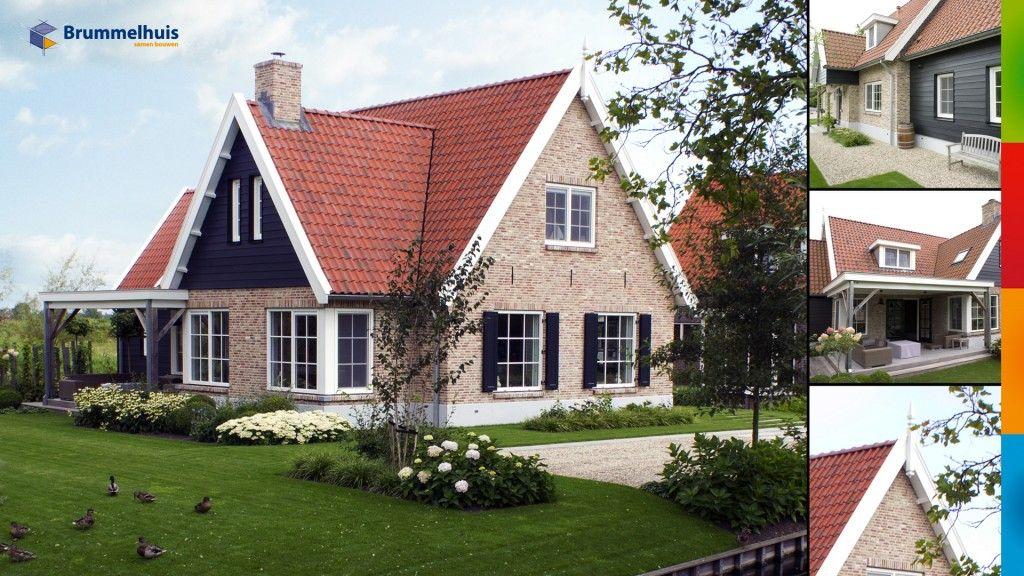Landelijke villa echt een huis huis met rood dak stenen for Landelijke villa bouwen