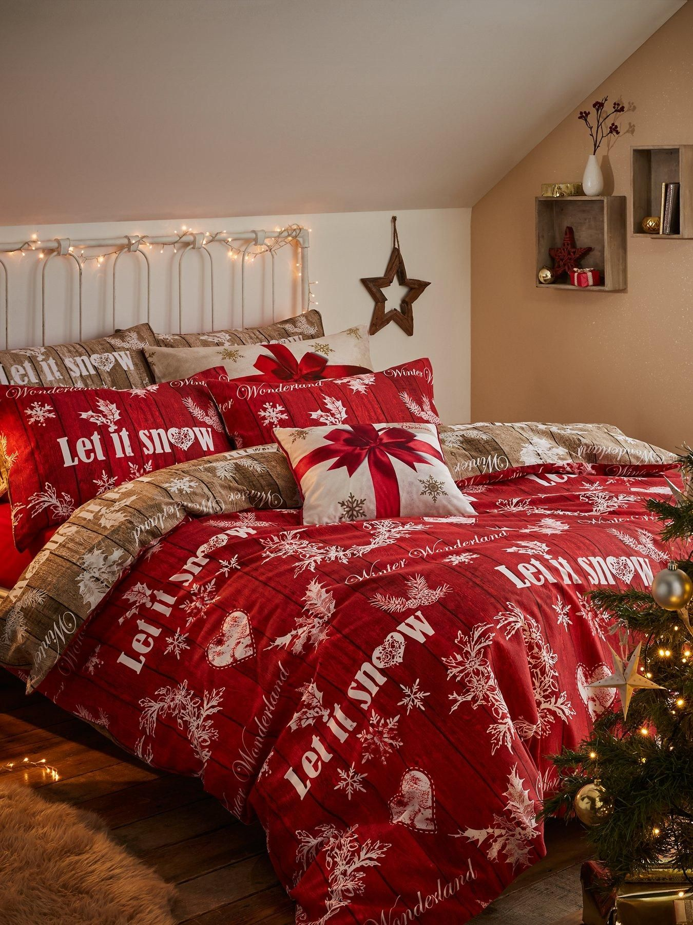 Catherine Lansfield Christmas Bedding Littlewoods Ireland Online Shopping Fashion Homeware Köröm