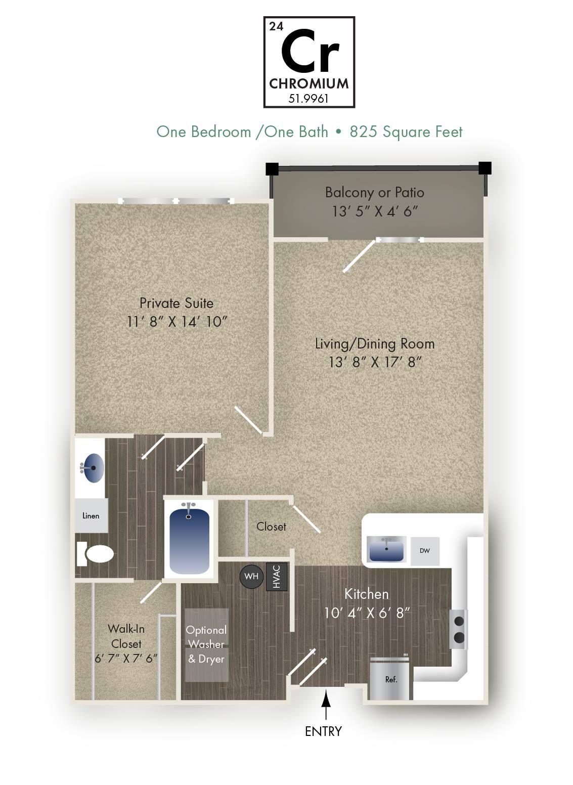 Chromium Apartment Living Dining Room Dayton