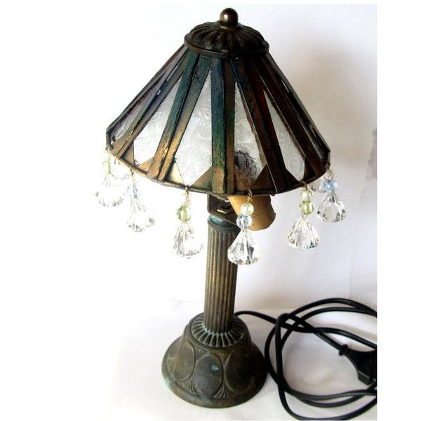 Upcycled vintage.Table lamp. Standing lamp. Copper table