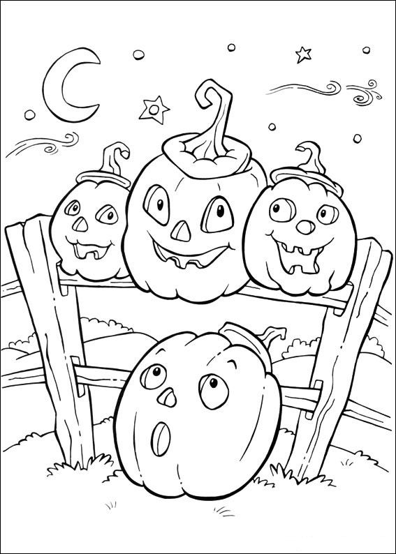 Pumpkins for Halloween Coloring pages   For the grandkids ...