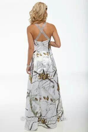Realtree White Camo Wedding Dress.. I like this(: | Wedding Dresses ...
