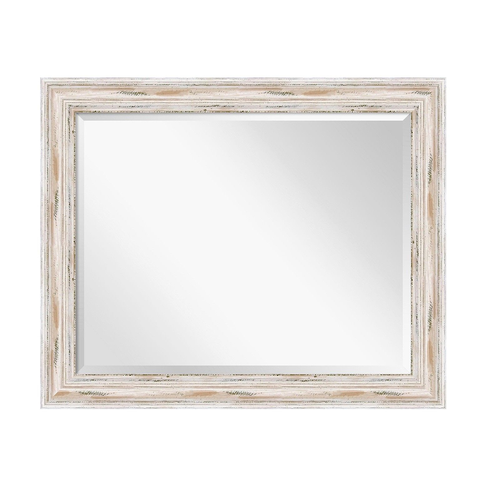Amanti art rectangle alexandria decorative wall mirror whitewash the frame is wide deep and made from wood which is considered to be the finest in framing materials jeuxipadfo Images