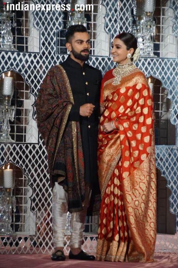 Anushka S In Banarasi Silk Saree Picked By Sabyasachi