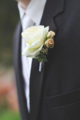 White Garden Rose Boutonniere sahara rose boutonniere - google search | groom | pinterest | rose