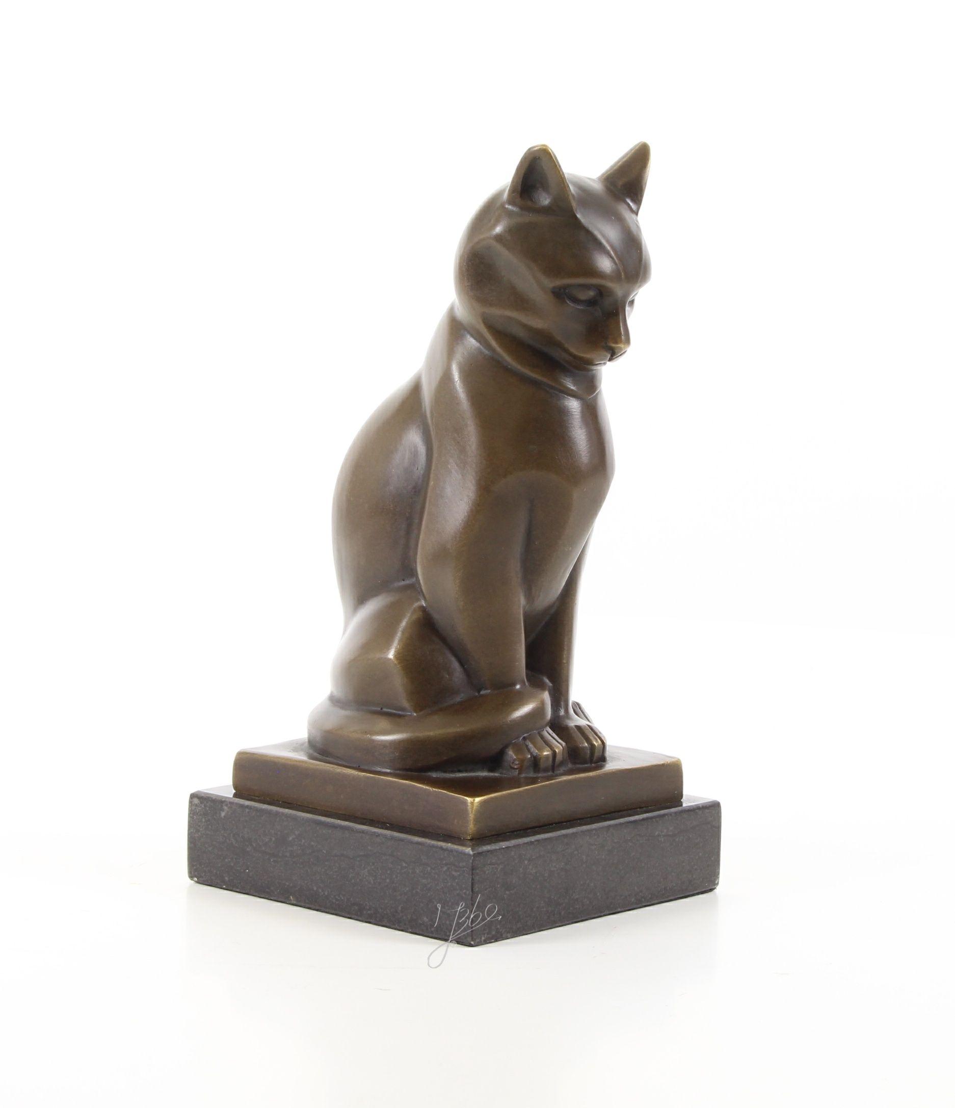 Bronze Sculpture Art Deco Cat Art deco, Bronzen
