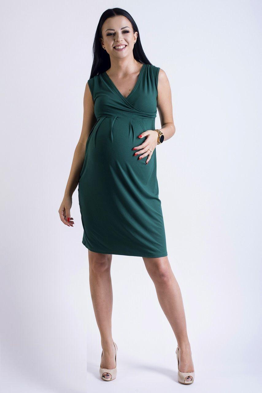 703415203815 Těhotenské šaty v zelené barvě