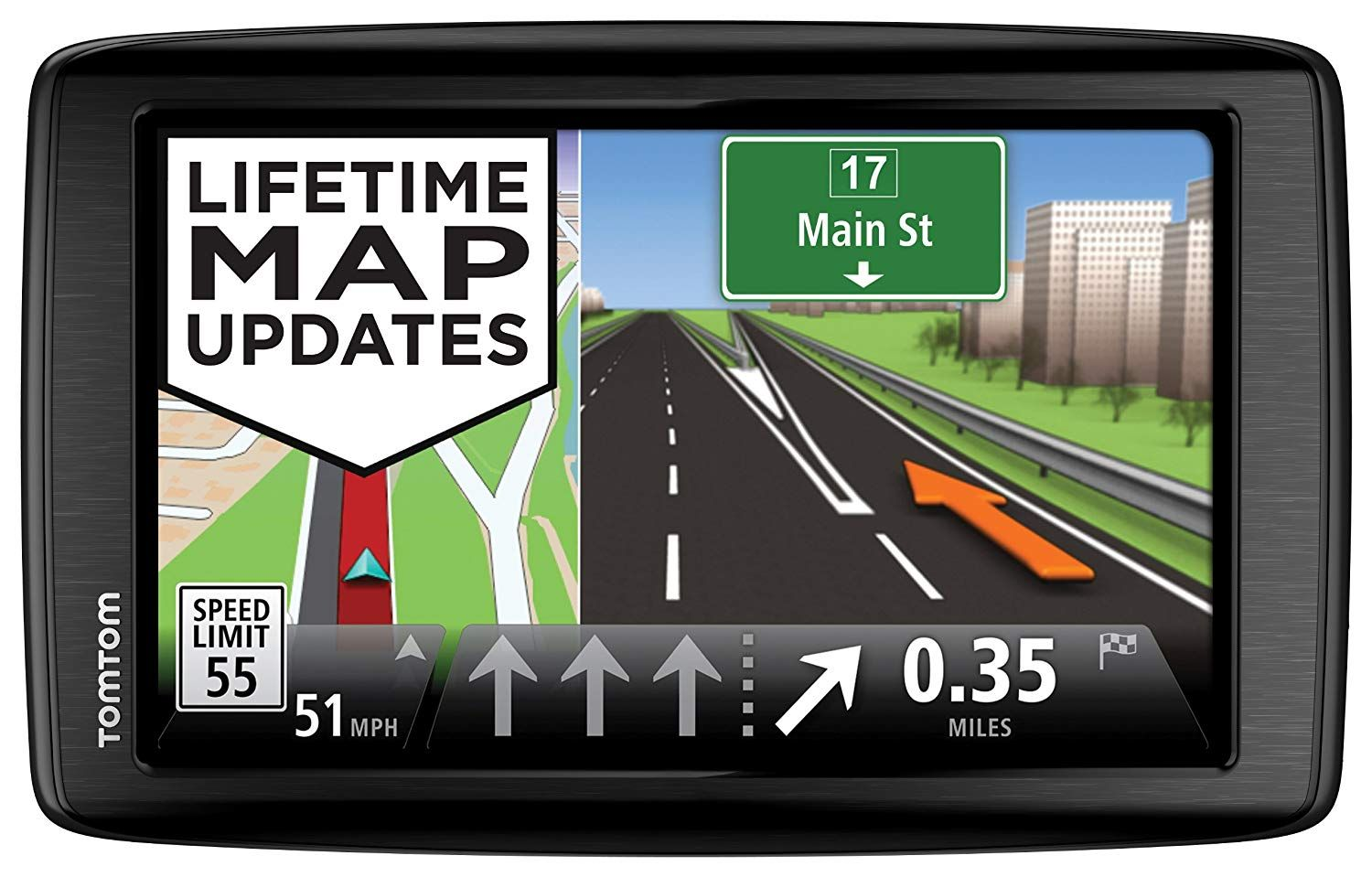 TomTom VIA 1605M GPS Navigator with Lifetime Maps (Discontinued by