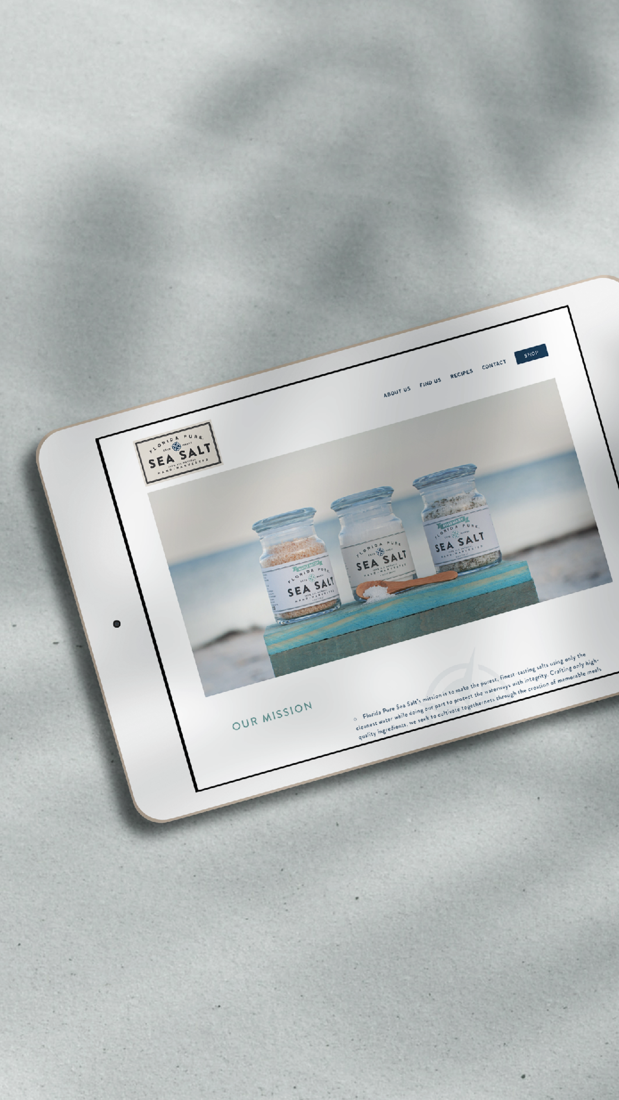 Website Re Design For Florida Pure Sea Salt Hand Harvested Salt In St Pete Fl By Bridge Bloom Pure Products Website Design