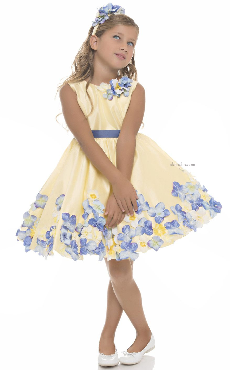 a3002b7340fc Yellow Floral Dress with Belt