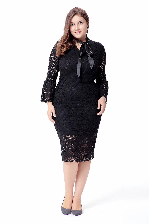Lace dress bodycon  Plus Size XlXl Women Lace Pencil Loose Elegant Midi Bodycon Party