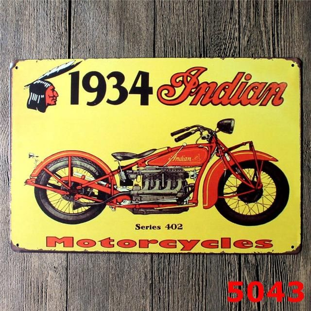 Retro Metal Motorcycle License Plate Electrombile Vintage Wall Art ...