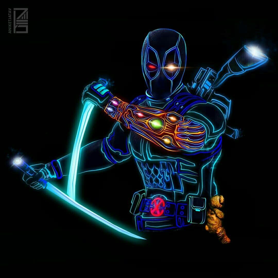 Deadpool V 3 Neon Marvel Marvel Universe Marvel Deadpool