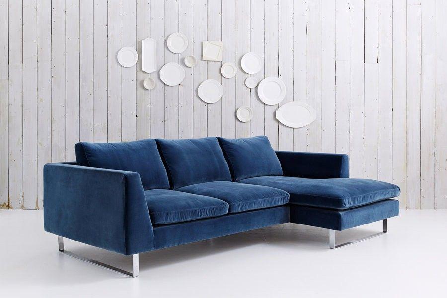 Modern Corner Sofa with Chaise Jasper Family room Pinterest