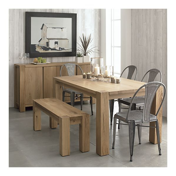 Big Sur Dining Table 65 Crate Barrel 1 499 Wooden Dining Table Designs Diy Dining Table Metal Dining Chairs