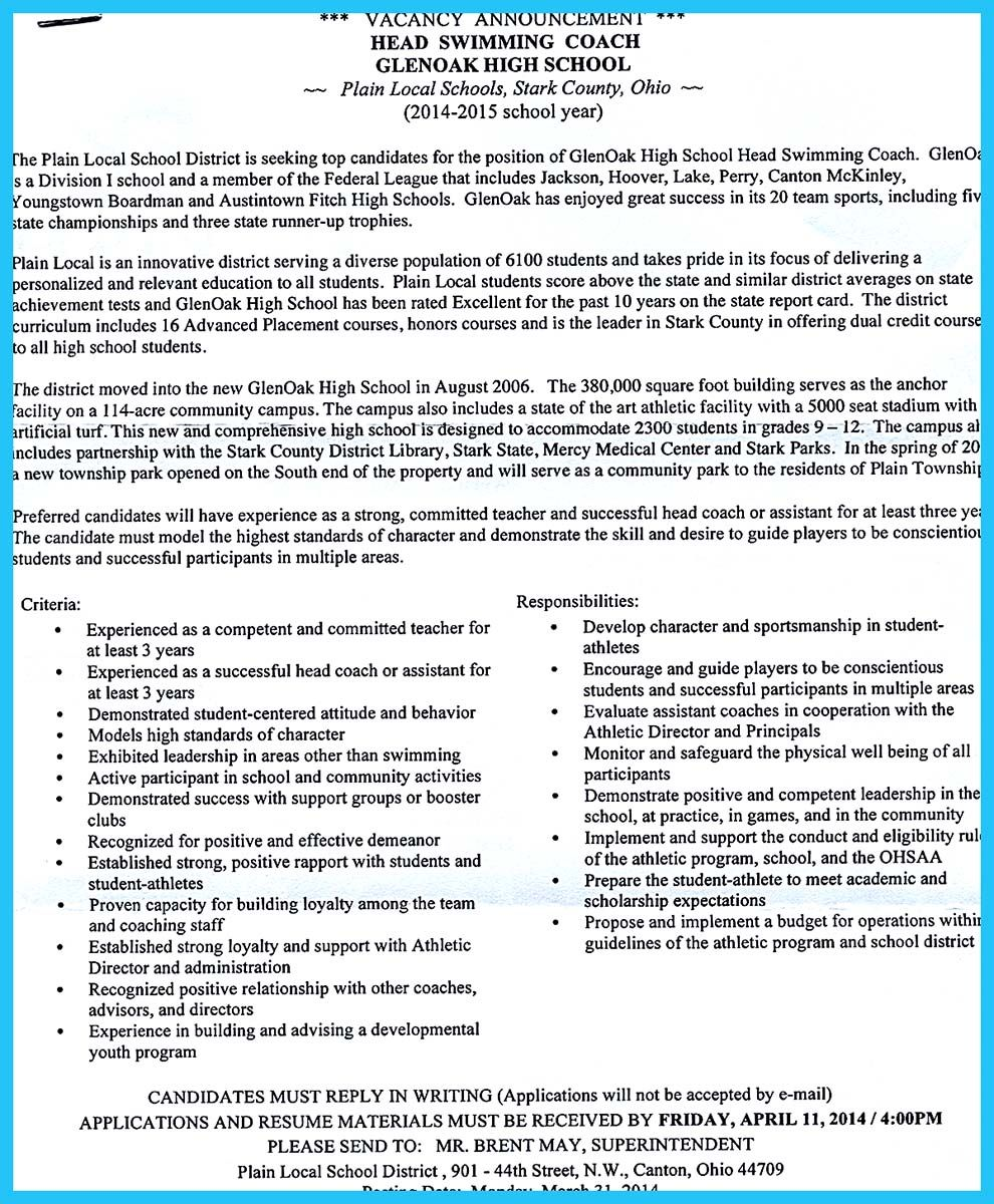 Starting Your Career Now With A Relevant Athletic Director Resume Resume Templates Best Resume Template Resume