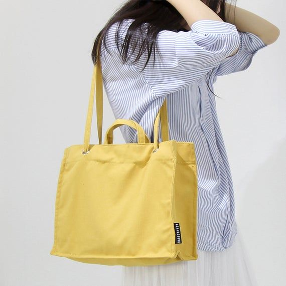 Photo of Canvas Tote Bag Summer Bags Canvas Bags With Strap Crossbody Bags Yellow Canvas Tote Black Tote Bag Large Canvas Bag Purses And Bags