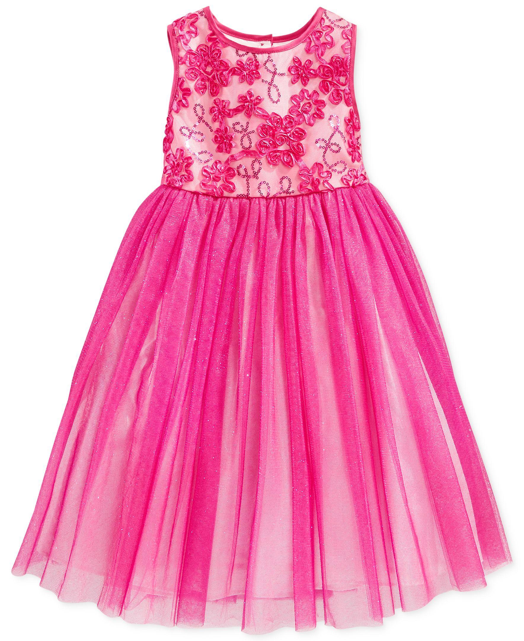 Marmellata Little Girls Soutache Ballerina Dress