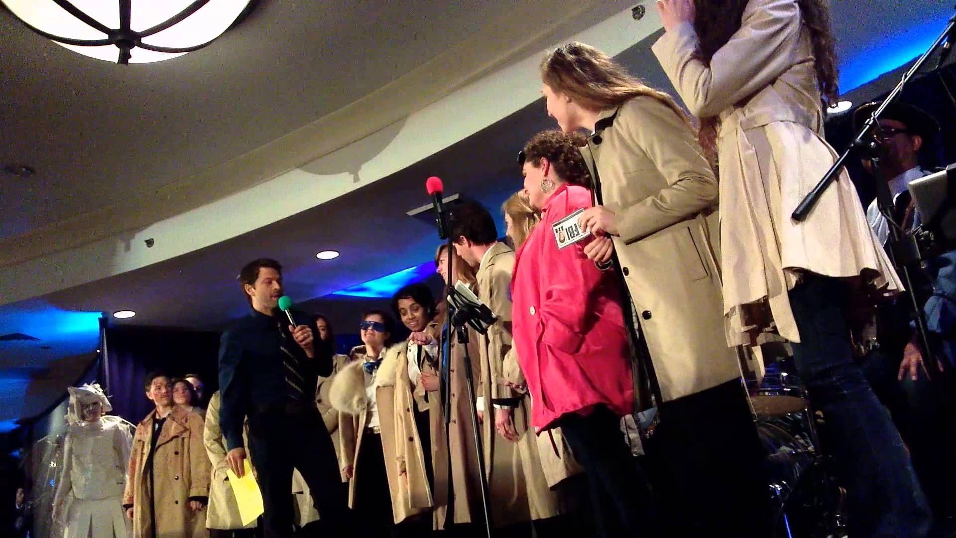 Misha Collins judges the Castiel cosplay at DCcon 2014