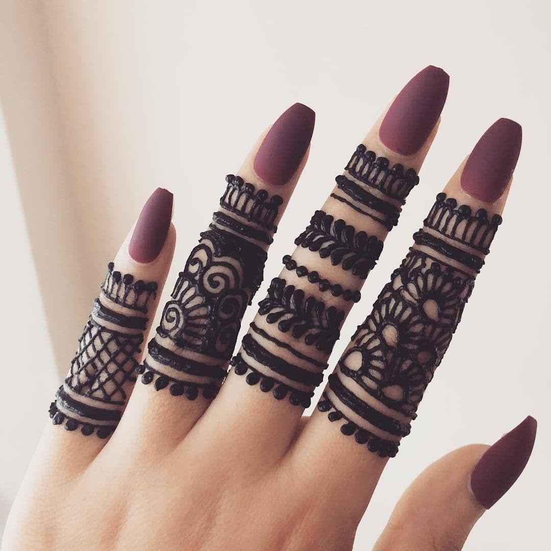 Mehndi Design For Fingers Only