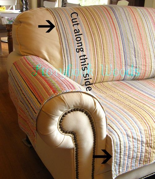 Couch cover to protect from sticky hands and dirty paws DIY