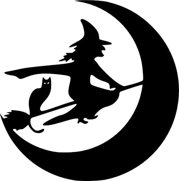 witch broom moon cat halloween vinyl decal vinyl decal in 2018