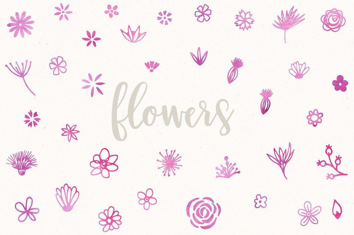 Vector Flower Kit by everytuesday on @creativemarket