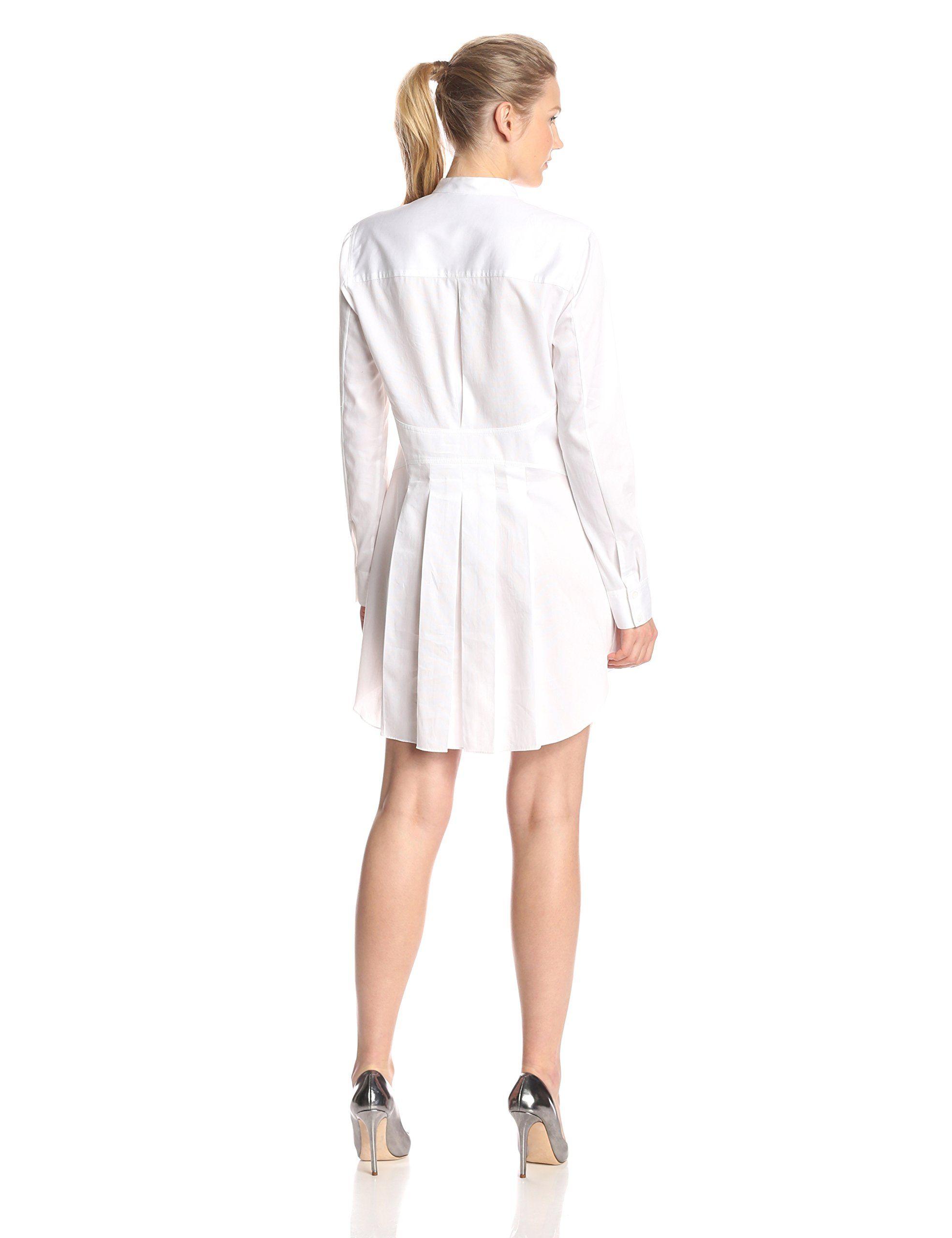 super service purchase cheap famous designer brand Amazon.com: BCBGMAXAZRIA Women's Casie Tuxedo-Shirt Dress ...