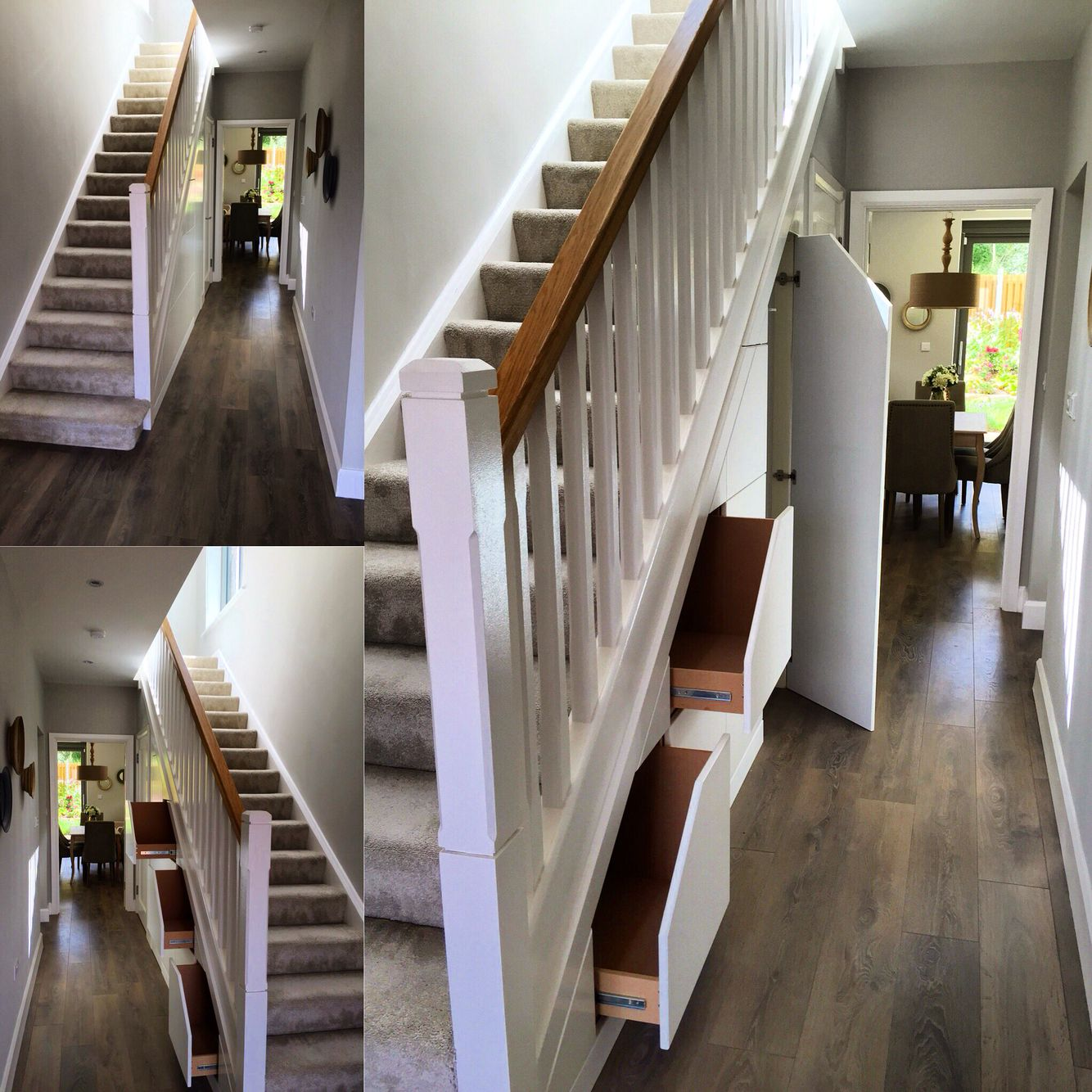 Staircase Ideas For Your Hallway That Will Really Make An: Stair Storage, Smart