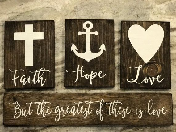 Faith Hope And Love Sign First Corinthians By Sweetlemondesignco
