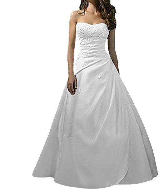 O.D.W Damen Lange Vintage Brautkleider Spitzen Hochzeitskleider ...