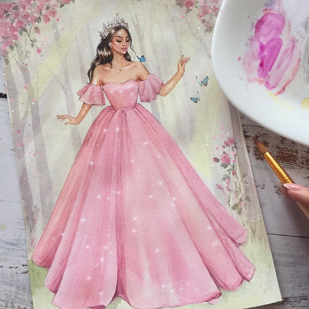Irina Pirogova Pe Instagram Princesa Art Arte Arts Draw Draw Fashion Illustration Dresses Illustration Fashion Design Fashion Drawing Dresses