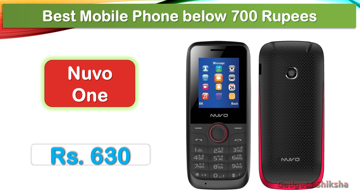 Nuvo One dual-SIM feature phone is a favorite basic phone under 1000  Rupees. Its screen size is 1.8-Inch. The 1.3-MP camera of this phone takes  HD picture. bfb871c14