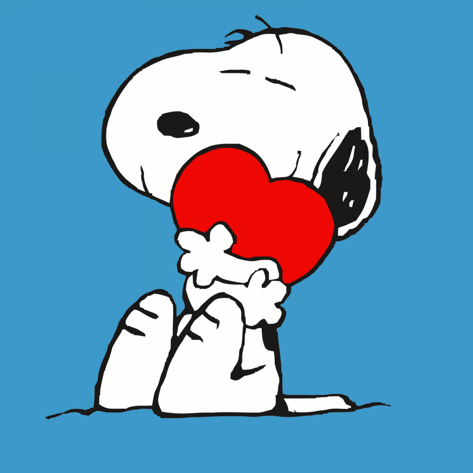 Snoopy And Heart Vector Wallpaper For Ipad スヌーピー スヌーピーの壁紙 スヌーピー イラスト