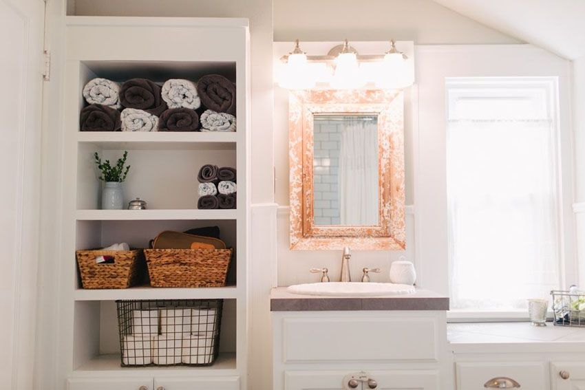 Compact Bathroom With Open Shelving