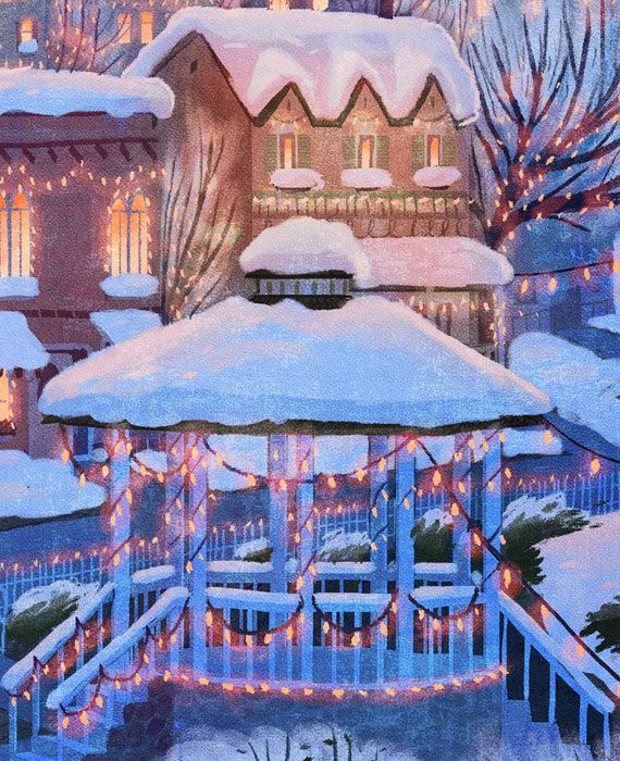 Estrellas hueco Poster de viaje de vacaciones de invierno