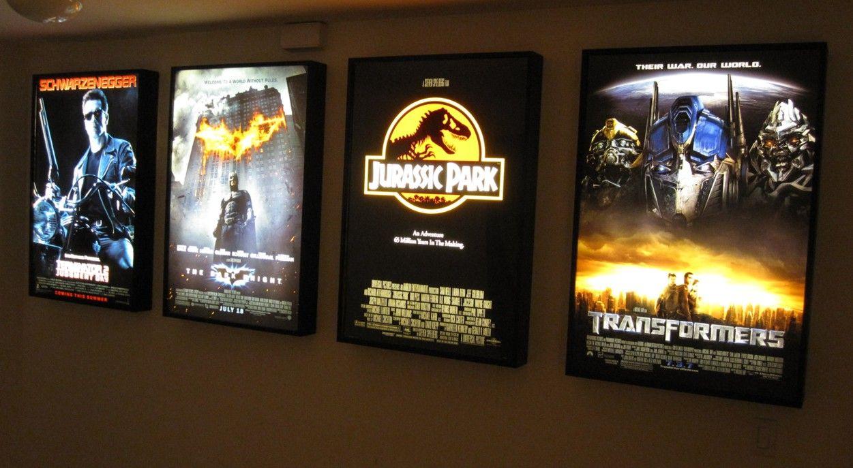 movie poster light box display frame cinema lightbox light up home theater sign ebay