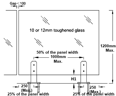 Frameless Glass Pool Fence Spigot Round With Base Plate Cover Surface Mounting Type Glass Pool Fencing Pool Fence Glass Balustrade
