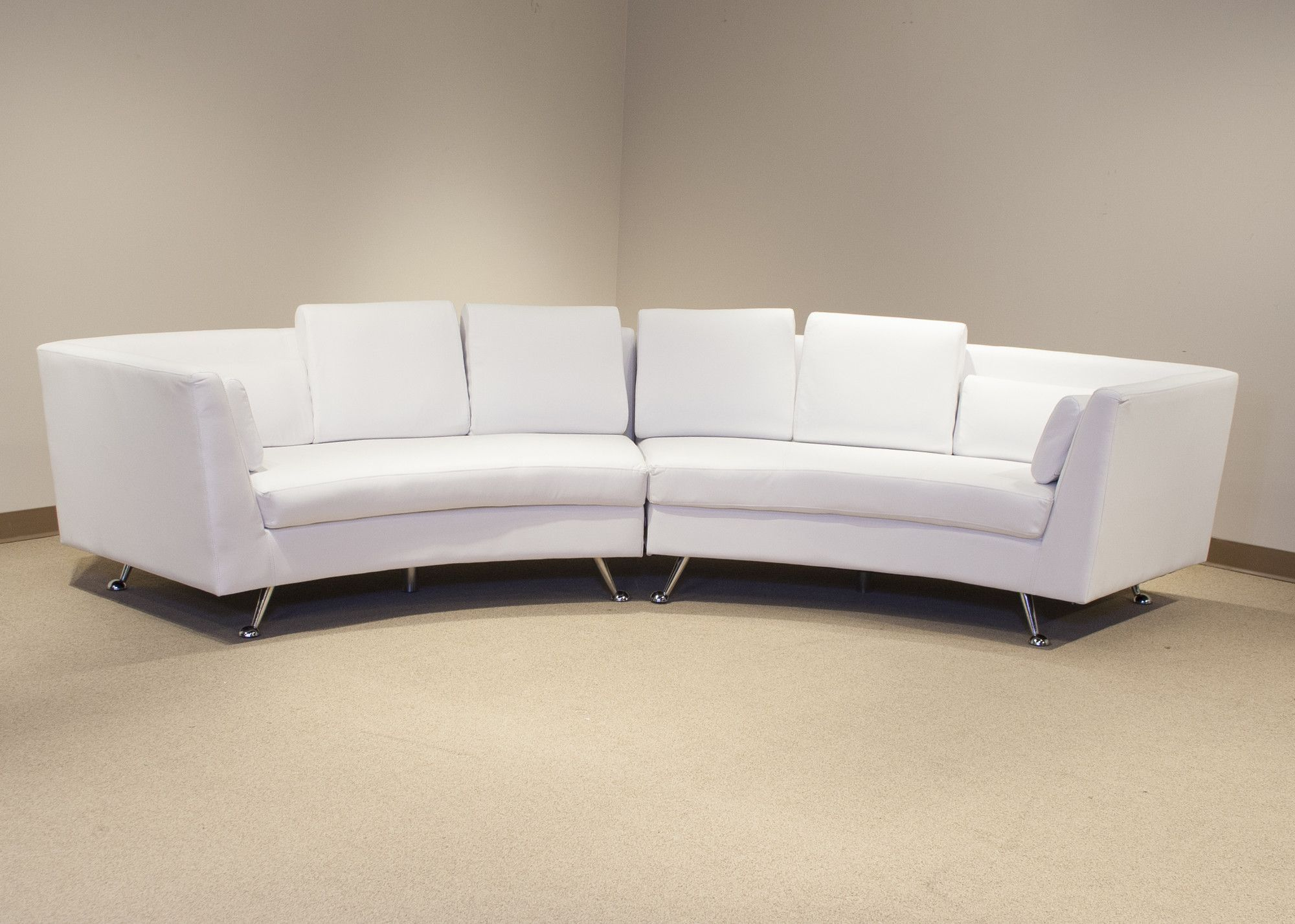 White Bonded Leather Sectional Sofa Set With Light Wooden Legs South Africa Products Furniture