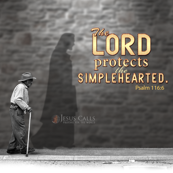 Psalm 116:6 - The Lord protects the simplehearted  | *Men