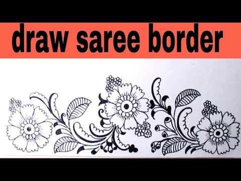 Draw Saree Border For Embroidery Designs Pencil Sketch Designs For