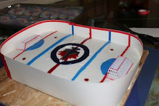 Junktacular Winnipeg Jets Birthday Cake and party ideas Tanners