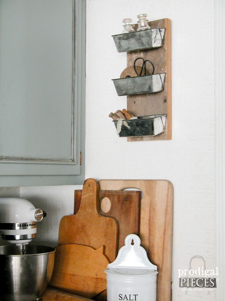 Repurposed Cake King Baking Pan Barn Wood Cubby by Prodigal Pieces | www.prodigalpiece...