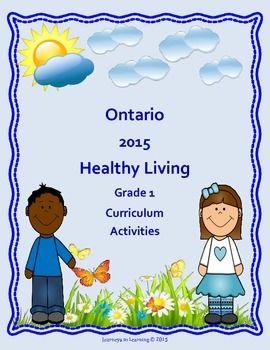 Ontario Healthy Living Grade 1 Curriculum Activities