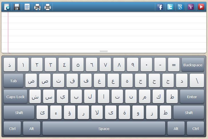 Virtual Arabic Keyboard (لوحة المفاتيح العربية) | Places