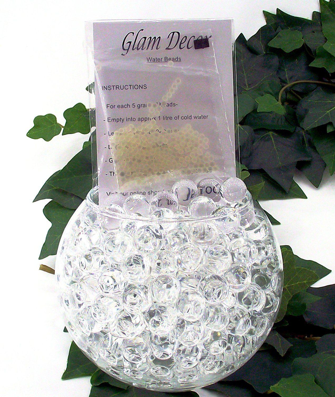 10 packs clear glam decor water beads aqua bio gel balls crystal from glam decor water beads gel balls bio crystal soil wedding vase decoration packs clear junglespirit Choice Image