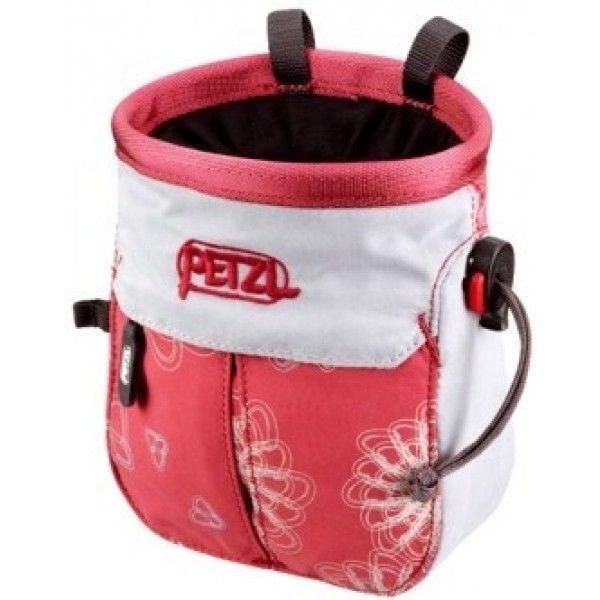 Petzl Kodapoche Chalk Bag Limestone Radiant Cranberry