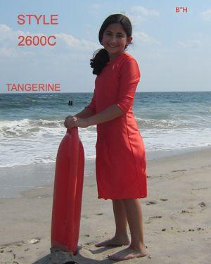 7f8c51bd93053 AQUA MODESTA GIRLS SWIM DRESS STYLE 2600C IN TANGERINE LOVE IT!  WWW.AQUAMODESTA.COM