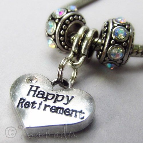 Happy Retirement European Birthstone Beads Trio For Charm Bracelets