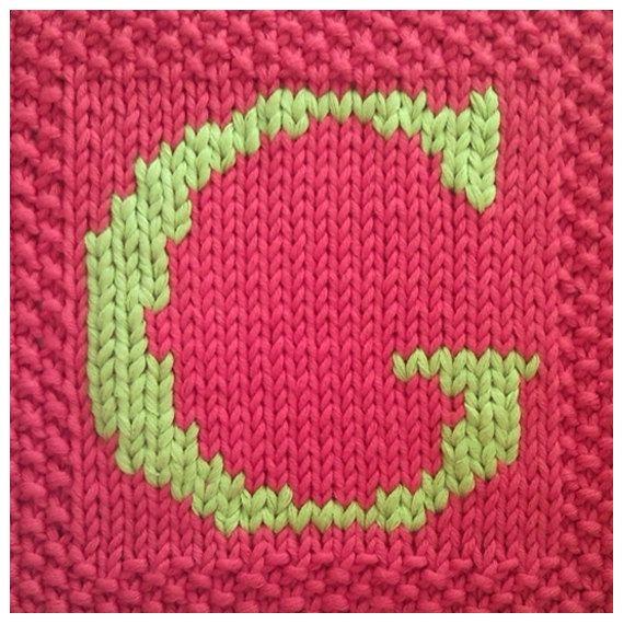 Pdf Knitting Pattern Capital Letter G Afghan Blanket Square Now